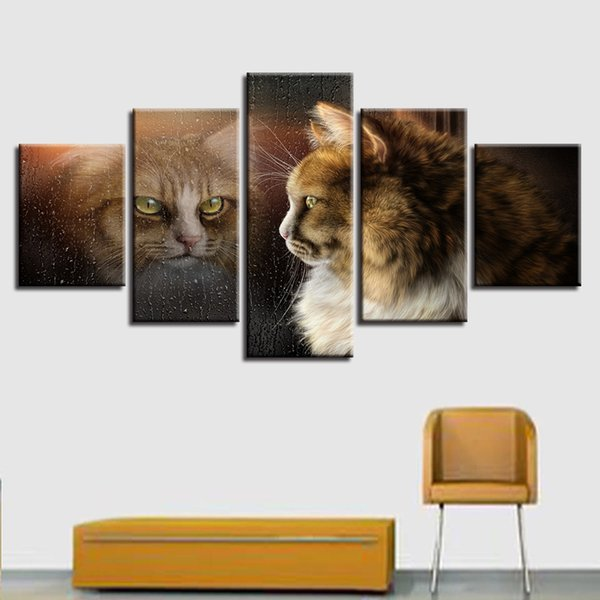 2019 Painting Cute Cat Wall Art Print Canvas Painting Kitchen Decoration  For Living Room HD Prints Poster Pictures From Jonemark2013, $38.19 | ...