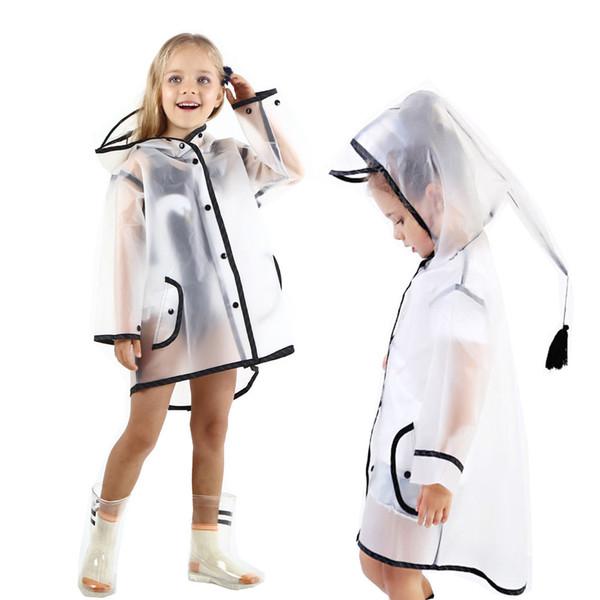 2018 Verkauf Leichte Regenjacke Regenbekleidung Transparente Dropshipping Mädchen Heißer Kinder Slicker Großhandel Muqgew Regen Regenmantel Junge dtsrQh