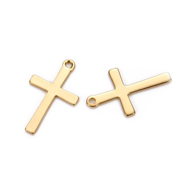 50 STÜCKE 12 * 20mm Edelstahl Kreuze Charms Fit Halskette Schwimm Kruzifix Charms Handgefertigte Anhänger DIY Schmuckherstellung
