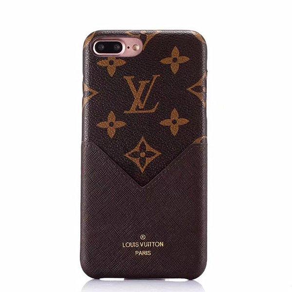 Funda de teléfono de lujo de moda con tarjeta de cuero para iPhone X iphone 6 6 plus 7/8 7 / 8plus Funda protectora suave para teléfono móvil Funda trasera