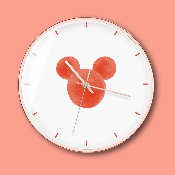 Nordic style wall clock, living room clock, modern simple fashion clock pendant, small fresh ins wind clock