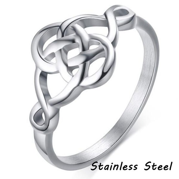 Stainless Steel Celtic Knot Ring Wedding Promise Propose Knotted Anniversary Party Valentine Christmas Thanksgiving Gifts