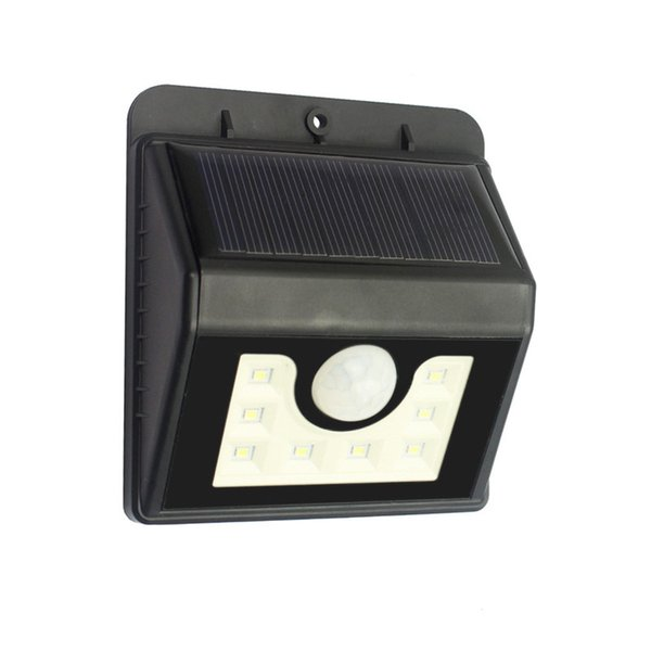 8 LED Solar Motion Activated Wall Light IP65 PIR Weatherproof Outdoor Solar Lamp Wireless Security For Patio Deck Yard Garden Driveway