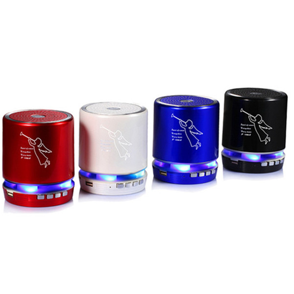 T-2308A Angel Pattern Mini Protable Bluetooth Wireless Speakers Support TF Card Speaker Shower Waterproof with package