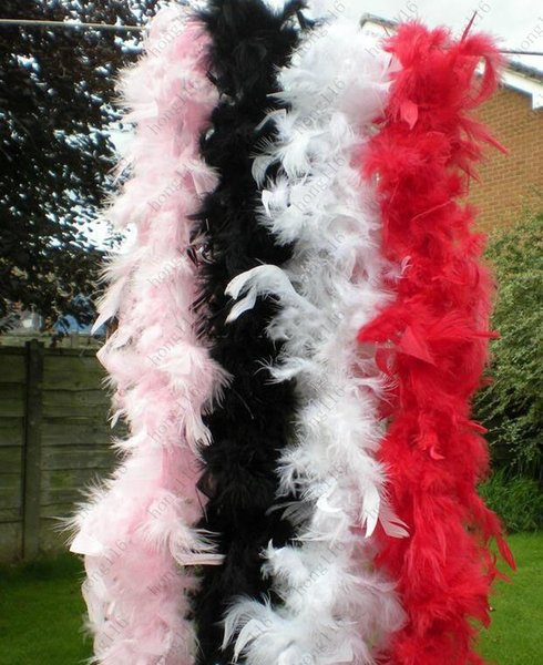 17colors Feather boa 200cm burlesque showgirl hen night fancy dress party dance costume accessory wedding DIY decoration Free shipping