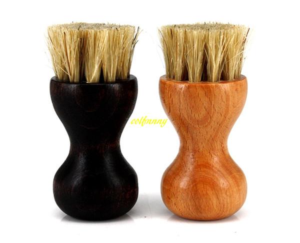 100 unids / lote 7.5 * 2.7 cm Mini cerdas de Cerdo de Madera cepillo de limpieza Cepillo de zapatos de madera cepillo de Aceite