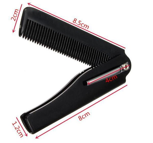 Wholesale Fashion Mens Womens Beauty Handmade Folding Pocket Clip Hair Moustache Travel Beard Comb Hairdressing Beauty Tools For Men