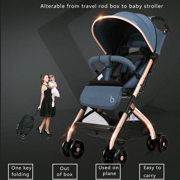 Superlichtreise-Babyauto ein Schlüsselfaltenkinderwagen-Wagen 8 Rad-Pram-hohe Ansicht-Reise geben Geschenke frei