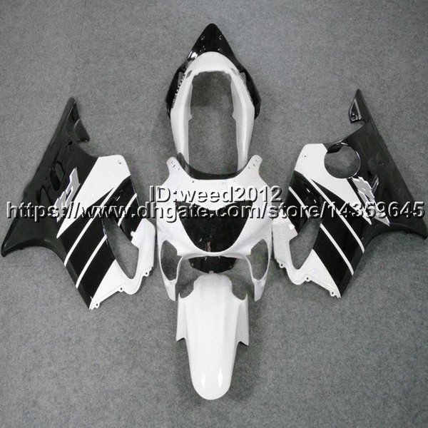 Custom-color+5Gifts Injection mold white black motorcycle cowl for HONDA CBR600F4 1999-2000 CBR 600 F4 ABS Fairings body kit