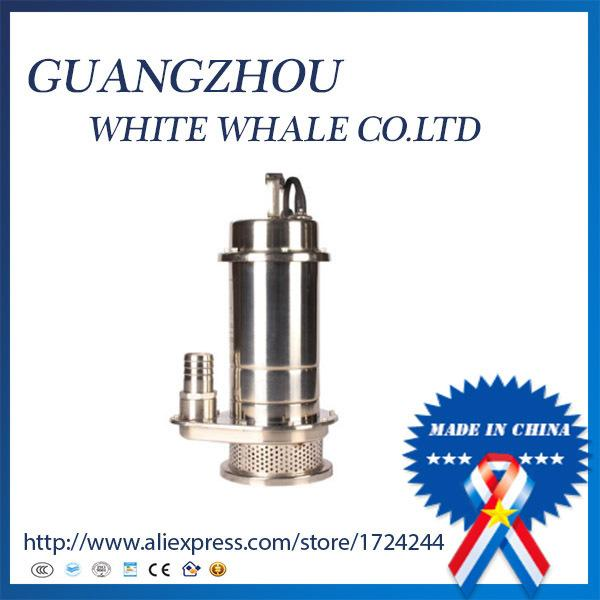 best selling QDX3-6-0.25S 304 STAINLESS STEEL SUBMERSIBLE WATER PUMP PRICE 3M3 H 6M 220V50HZ