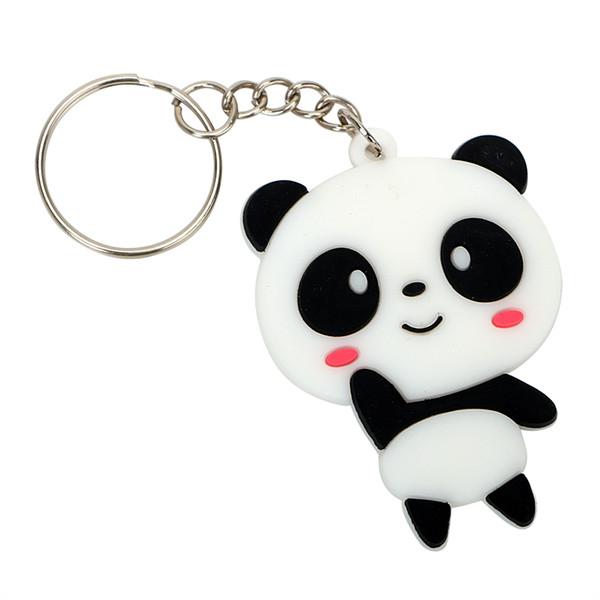 Panda Keychain Mignon Creative Cadeau Auto Porte-clés Cool Bijoux Femmes Sac Pendentif De Mode De Voiture Porte-clés
