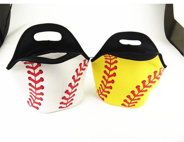 Baseball Lunch Bag Waterproof Handbag Sports Neoprene Tote Insulated Cooler Bags Unisex Students School Food Carrier Bookpack Cosplay Basket