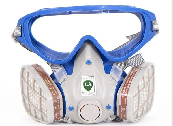 best selling Freeshipping new style Suit Respirator Painting Spraying Face Gas Mask with Goggles Paint glasses