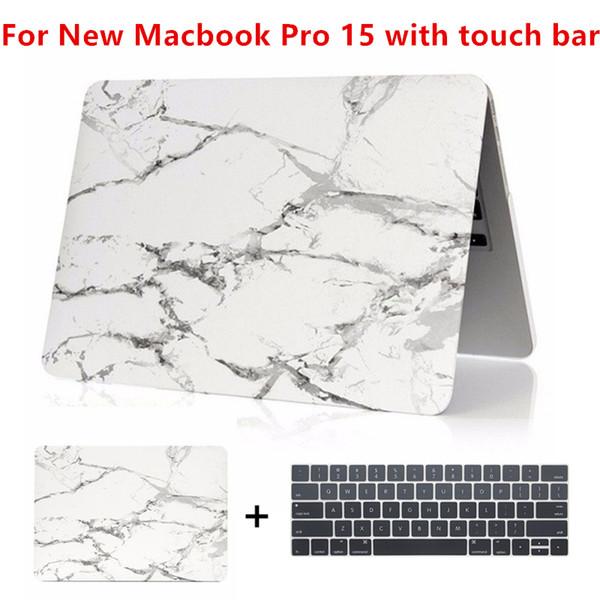 Custodia rigida in marmo opaco per nuovo MacBook Pro 15 2016 con custodia per laptop Touch Bar per MacBook Pro 15 A1707
