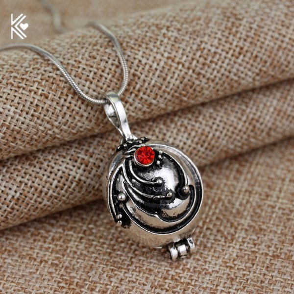Movie Vampire Diaries Necklace Elena Gilbert Vintage Vervain Verbena Crystal Pendant Jewelry For Men And Women Gifts Wholesale