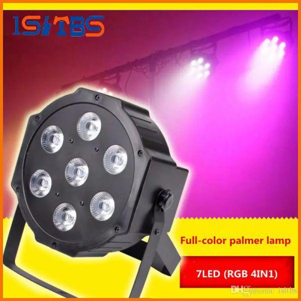 Новейшие 7x12w дом 72 из светодиодов свет этапа голосовое управление AC110-240 в LED телевизор с SlimPar четырехъядерный света 4in1 Сид DJ моет par света подсветки нет шума