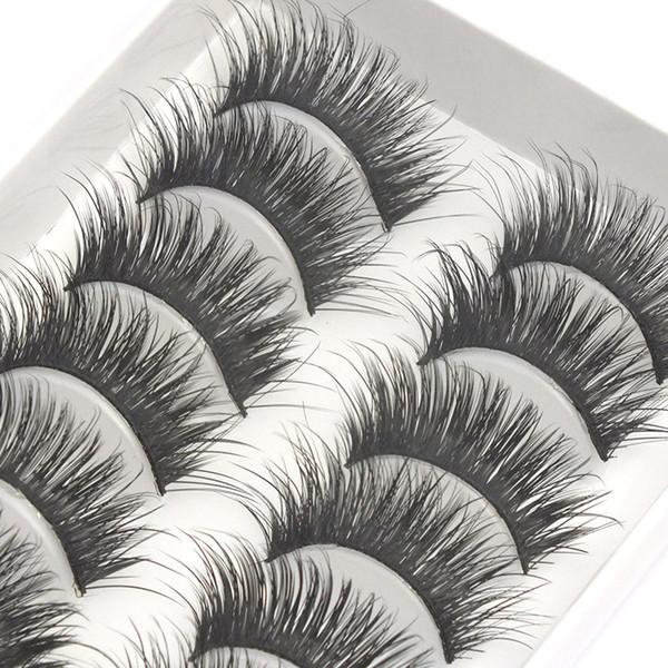 hot G20 10pairs of handmade eyelashes thick long full strips false eyelashes Natural Long Thick Daily Makeup Thick Cross Man-made fiber