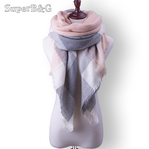 2017 marke Designer winter Schal Für Frauen Schals Kaschmir Warme Wrap Plaid Schal Luxus Für Weibliche Schal Mädchen schals
