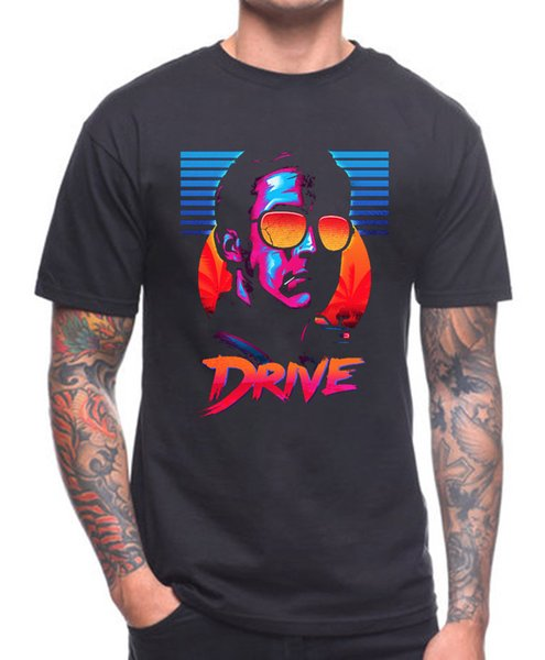 Drive T Shirt Cult Movie O Neck T-shirts Male Low Price Steampunk Teenage Natural Cotton Printed Top Tee Gray Style