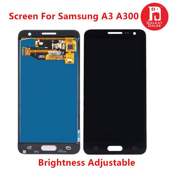 Samsung Galaxy için A3 2015 A300 A3000 A300F A300M TFT Ekran LCD Ekran Dokunmatik Ekran Digitizer Meclisi Yedek Parlaklık Ayarlanabilir