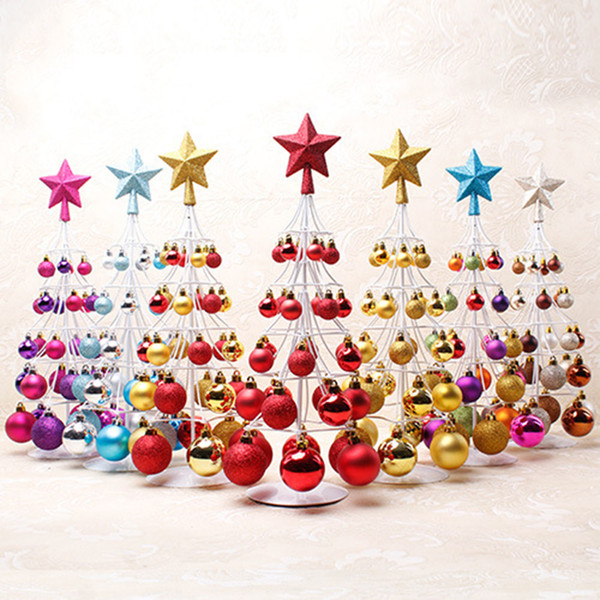 Miniature Christmas Ornaments.Christmas Tree Decoration Miniature Christmas Ball Tower Tree Top Star Decorations Balls For Home 10 19 Holiday Christmas Ornaments Holiday Christmas