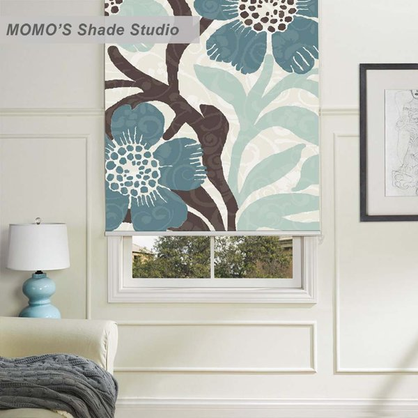 MOMO Blackout Painting Window Curtains Roller Shades Blinds Thermal Insulated Fabric Custom Size ,PRB set109-114
