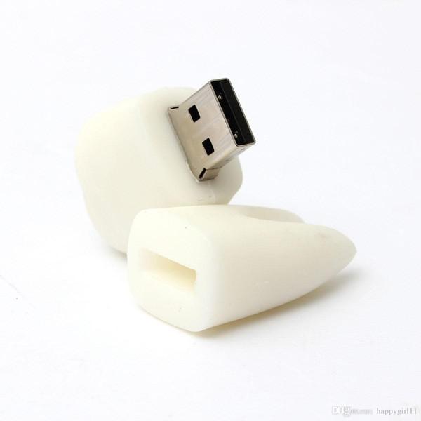 WHOLESALES White Tooth CUTE Model 16GB USB 2.0 Flash Drive Memory Stick Storage Thumb U Disk Pen U28