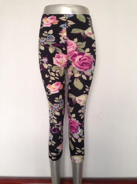 i pantaloni delle donne i pantaloni elastici alti di capris leggings comodi lo stile popolare europeo e americano stampano il trasporto libero