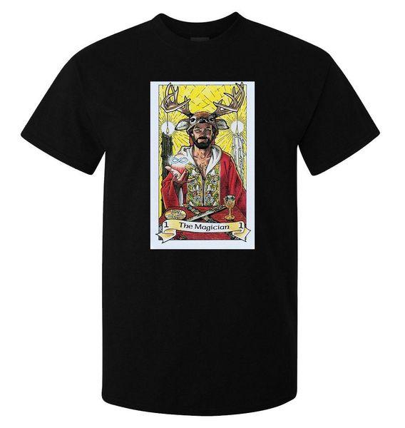 The Magician Tarot Art Logo Logo t-shirt noir