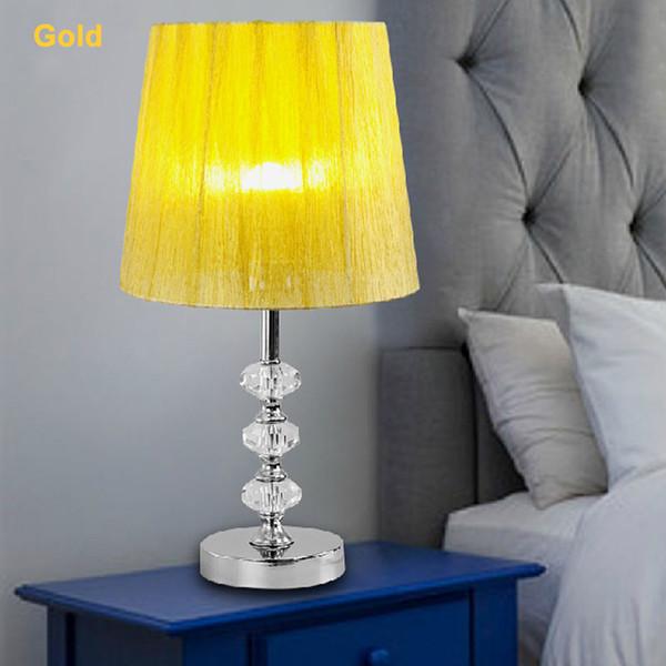 Cristal Table Lamp E27 Light Modern European Romantic Table Lamp AC 90-265V 110V 220V Bedside Bedroom Light