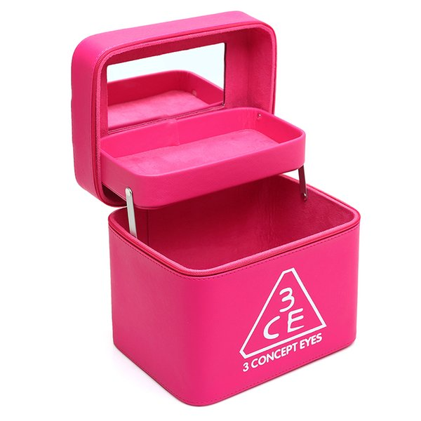 2018 Women Makeup Bag Professional Cosmetic Case High Quality Leather Female Korean Makeup Box Large Capacity Travel Wash Bags