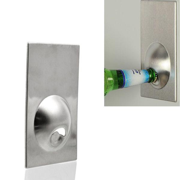 Card Shape Refrigerator Fridge Strong Magnet Stainless Steel Easy Beer Bottle Opener Wholesale Brand New