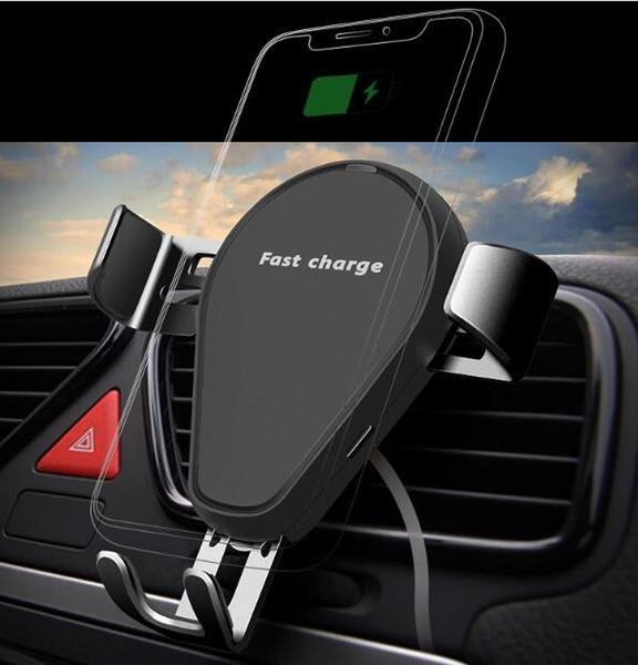 Caricatore senza fili per auto veloce 10W Caricatore per auto senza fili Caricatore per auto senza fili per iPhone 8 X Samsung