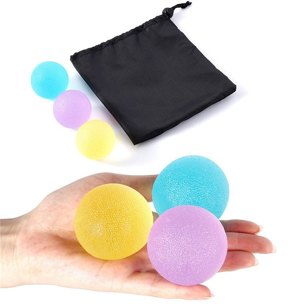 3pcs Silicone Egg Massage Hand Expander Gripper Strengths Stress Relief Ball Forearm Finger Exercise Equipment Mixed Color