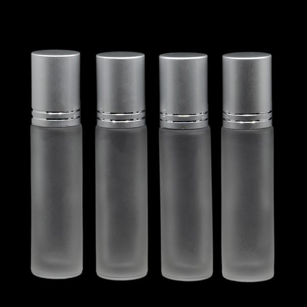 Matting Rolo De Vidro Em 10 ml Vazio Perfume Perfume Óleo Essencial Garrafas Recarregáveis Pé talão de vidro Garrafas de Bola Recarregável Óleos Difusores