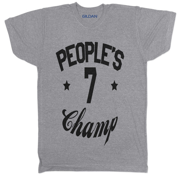 Peoples Champ Boxing Tyson A Ginástica Do Rock Musculação WWF Wrestling T Shirt