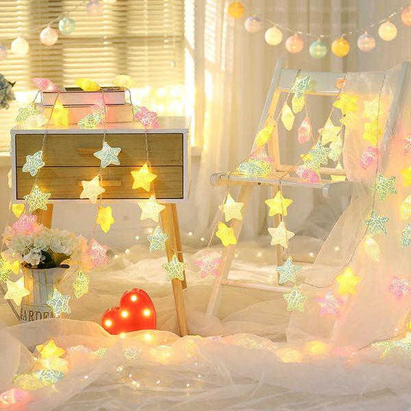 super popular c4ddc 89d2e Cute Star Shaped Fairy Lights Novelty LED Lights Decoration Decorative  String Nursery Night Light Bedroom Party Christmas String Bulb Lights  String ...