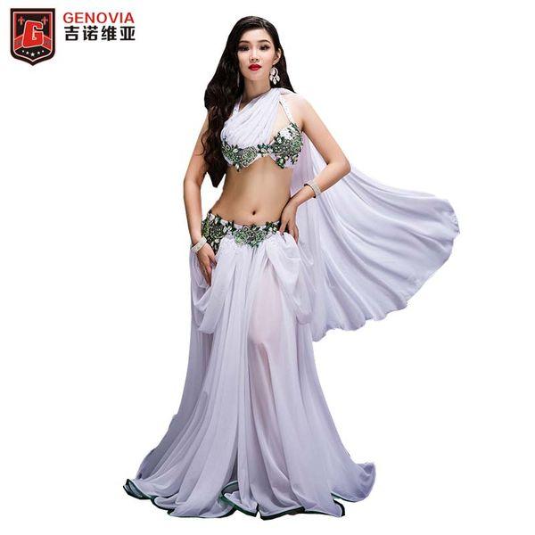 2fab2e5ca105b New Women Luxury Belly Dance Costumes Professional Halloween Christmas  Party Dancing Wear 2 Pcs Set Bellydance