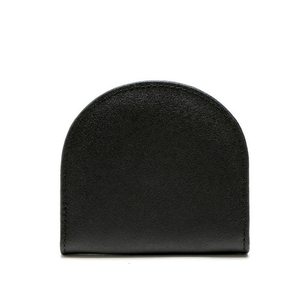 Men Retro simple business black leather coin bag Women Pocket Money Bag Holder  Package Thin Cow Leather Coin bag