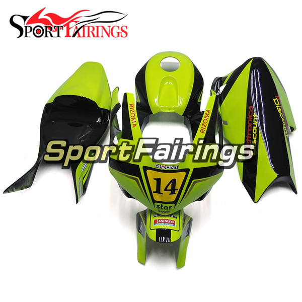 2005 CBR600RR Fiberglass Racing Fairing Kit For Fluorescent Green Honda CBR600RR F5 Year 2005 2006 Injection ABS Plastics Motorcycles New