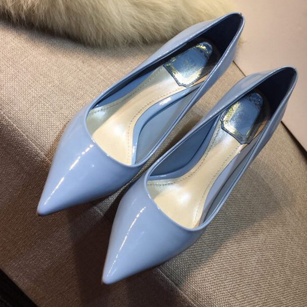 Oficina de bombas de mujer Zapatos de boda Mujer Tacones altos Desnudos Zapatos de tobillo Moda Zapatos de tacones altos tamaño 35-40