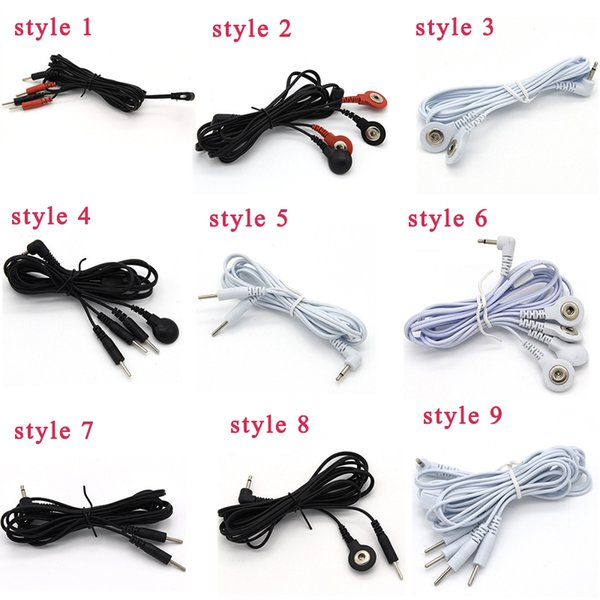 Adult Electric Shock Wires Cable For Electro Bust Cover Penis rings Massage Patch Anal Plug Medical Themed Sex Toys Accessories