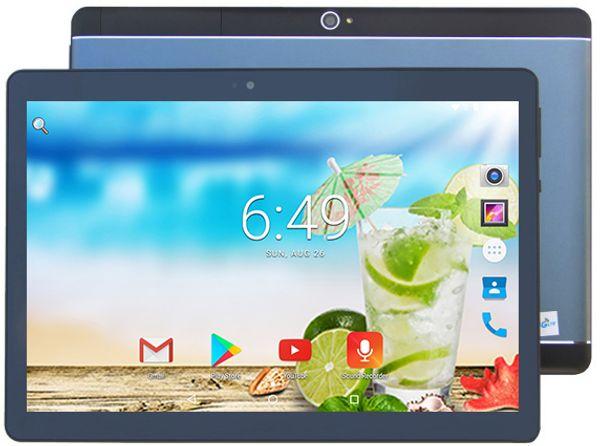 Nouvelle conception 10 pouces Octa Core DHL gratuit Android 7.0 Tablet PC 4G RAM 64G ROM IPS Dual SIM cartes IPS 3G appel téléphonique + cadeaux / carte TF