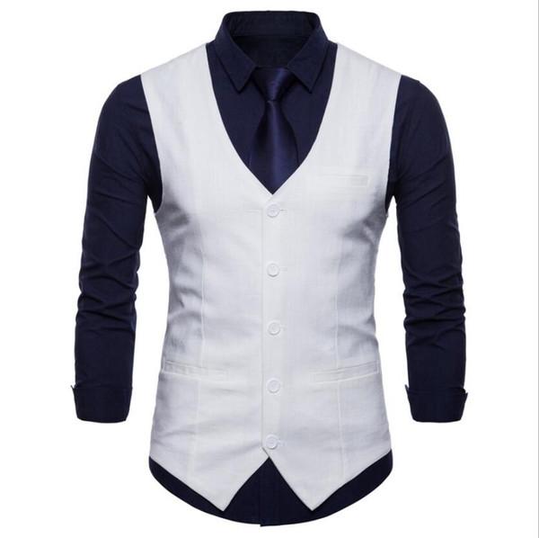 Nouveau printemps et automne gilet hommes britannique vent couleur unie veste à boutonnage simple couleur bonbon décontractée veste coréenne