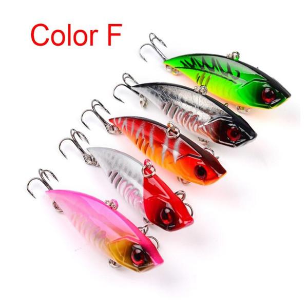 5 Colors 6.5cm/11g VIB Hard Bait Plastic False Fishing Lure Lu Ya Lifelike Fishing Bait with 6# Treble Hook for Saltwater