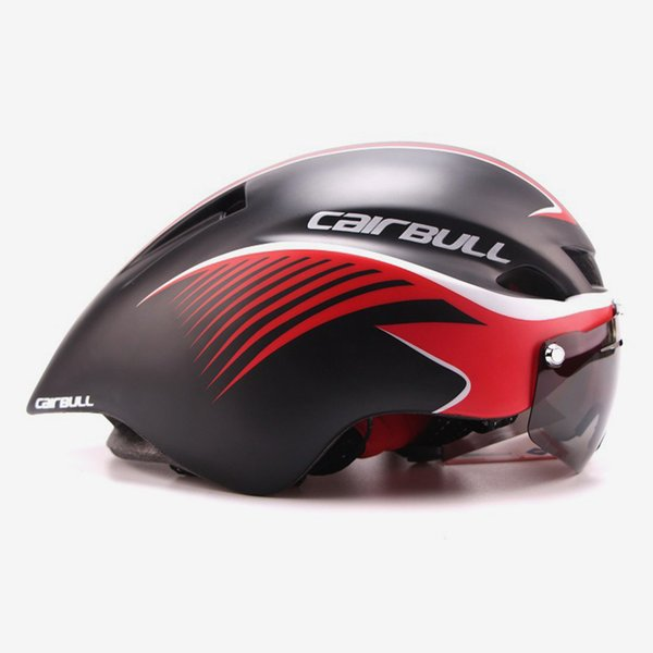Goggle Cycling helmet ultralight EPS men women road mtb mountain bike helmet lens bicycle equipment Casco Ciclismo casque velo Y1892908