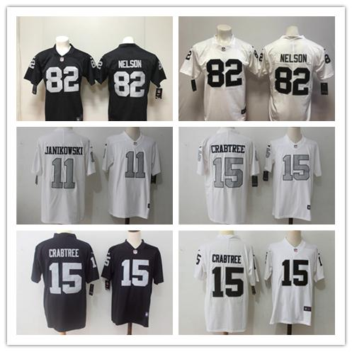 best sneakers 8fb64 4e724 2018 New Mens 15 Michael Crabtree Oakland Jersey Raiders Football Jerseys  100% Stitched Embroidery 82 Jordy Nelson Color Rush Football Shirt From ...