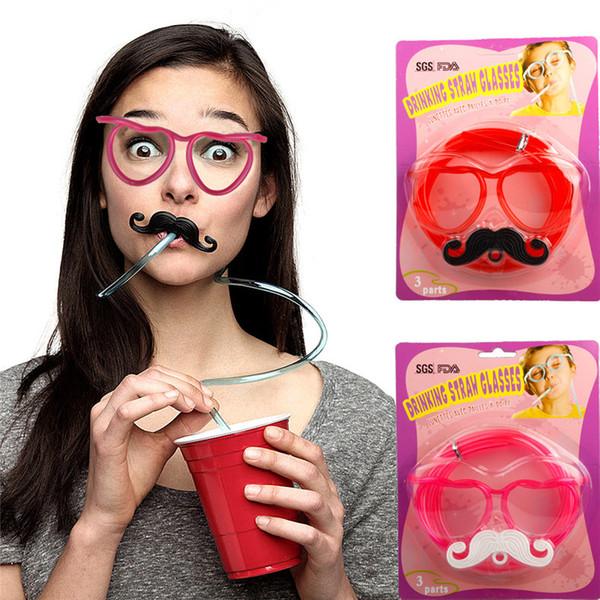 Bicchieri a forma di cuore di plastica magica di arrivo di nuovo arrivo + baffi divertenti regalo per bambini gadget di festa pazzesca
