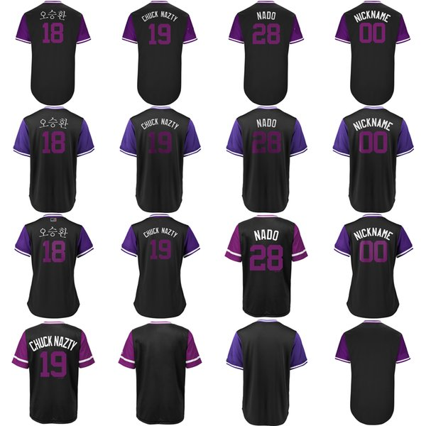 new product 4be8e 28d11 ado 2018 Players Weekend 19 Charlie Blackmon Chuck Nazty Nolan Arenado  Trevor Story Trev Ian Desmond Dez Seung Hwan Oh Baseball Jersey From  Probowl, ...