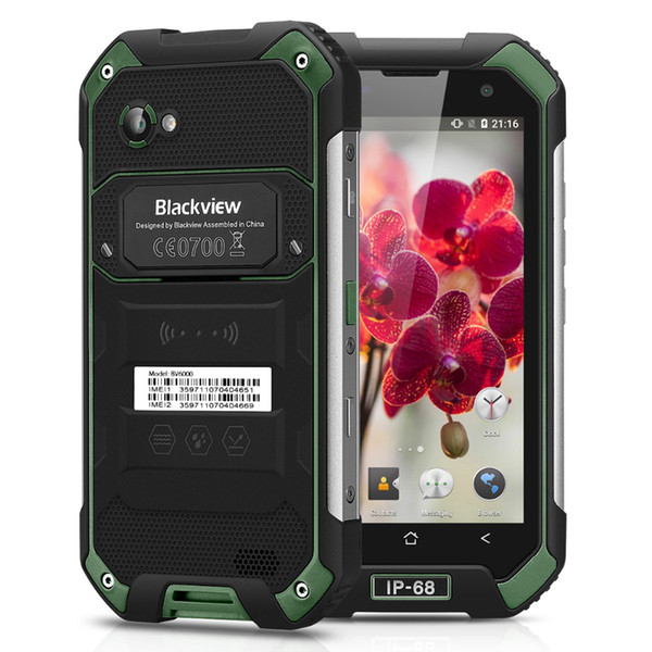 IP68 Waterproof Blackview BV6000s 4G LTE 2GB 16GB Quad Core MTK6737T Android 7.0 NFC GPS 8MP HD Camera 4500mAh 5V/2A Quick Charge Smartphone
